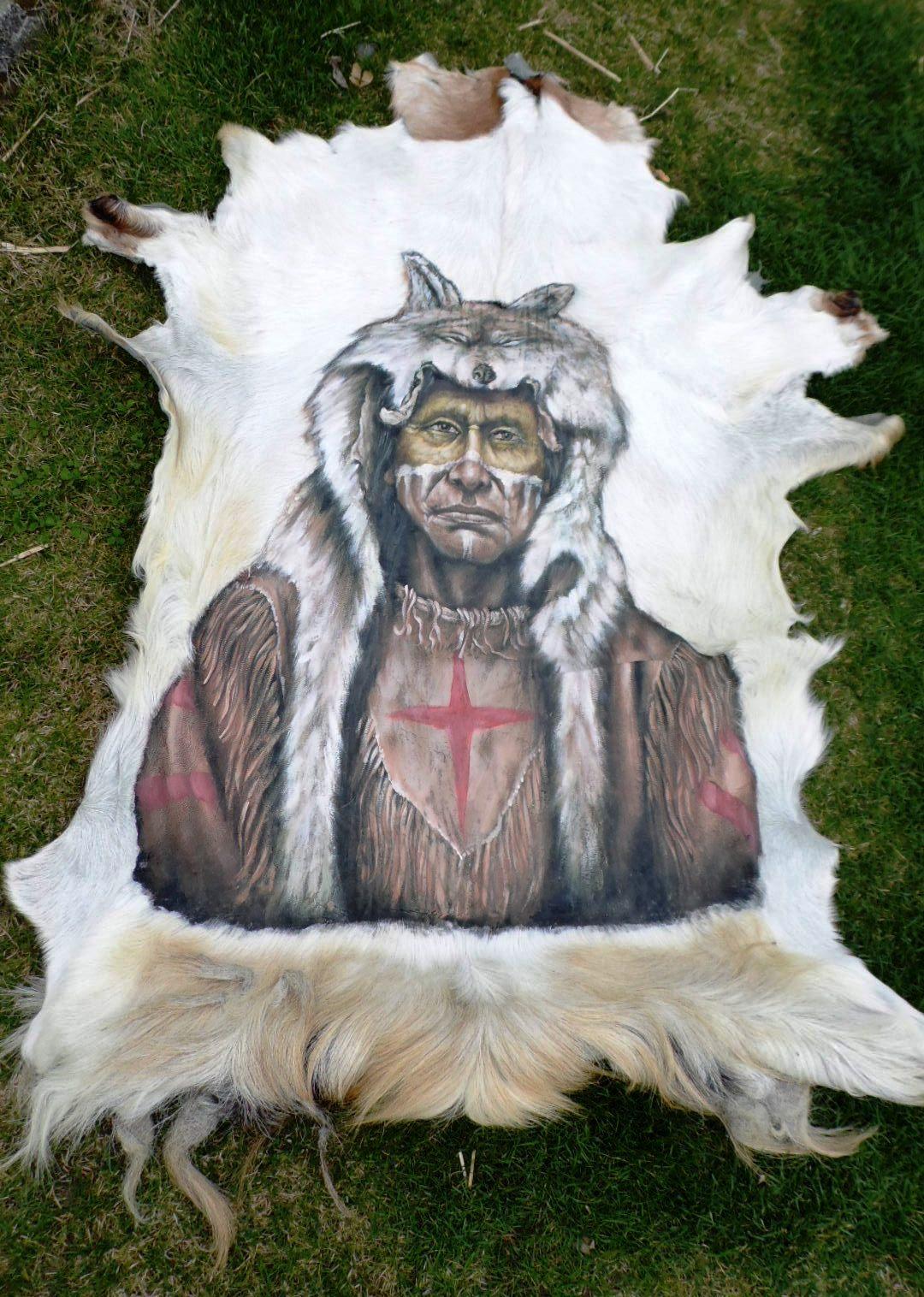 Blickfang Tierfell Teppich Referenz Von Ziegenfell * Goatskin Leather * Ziege *