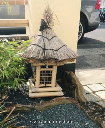 Asiatische gartenlampe pagode aus bambus zen garten for Asiatische deko garten