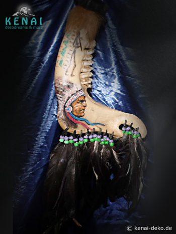 Büffelknochen - Indianer Kunst